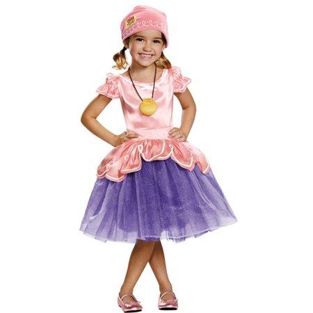 Morris Costumes DG85596M Lzzy Tutu Deluxe Costume, Size 3 - 4 Tall - Izzy Jake Neverland Pirates Halloween Costume