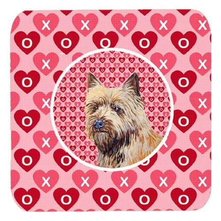Cairn Terrier Valentines Love and Hearts Foam Coasters, Set - 4 - image 1 de 1