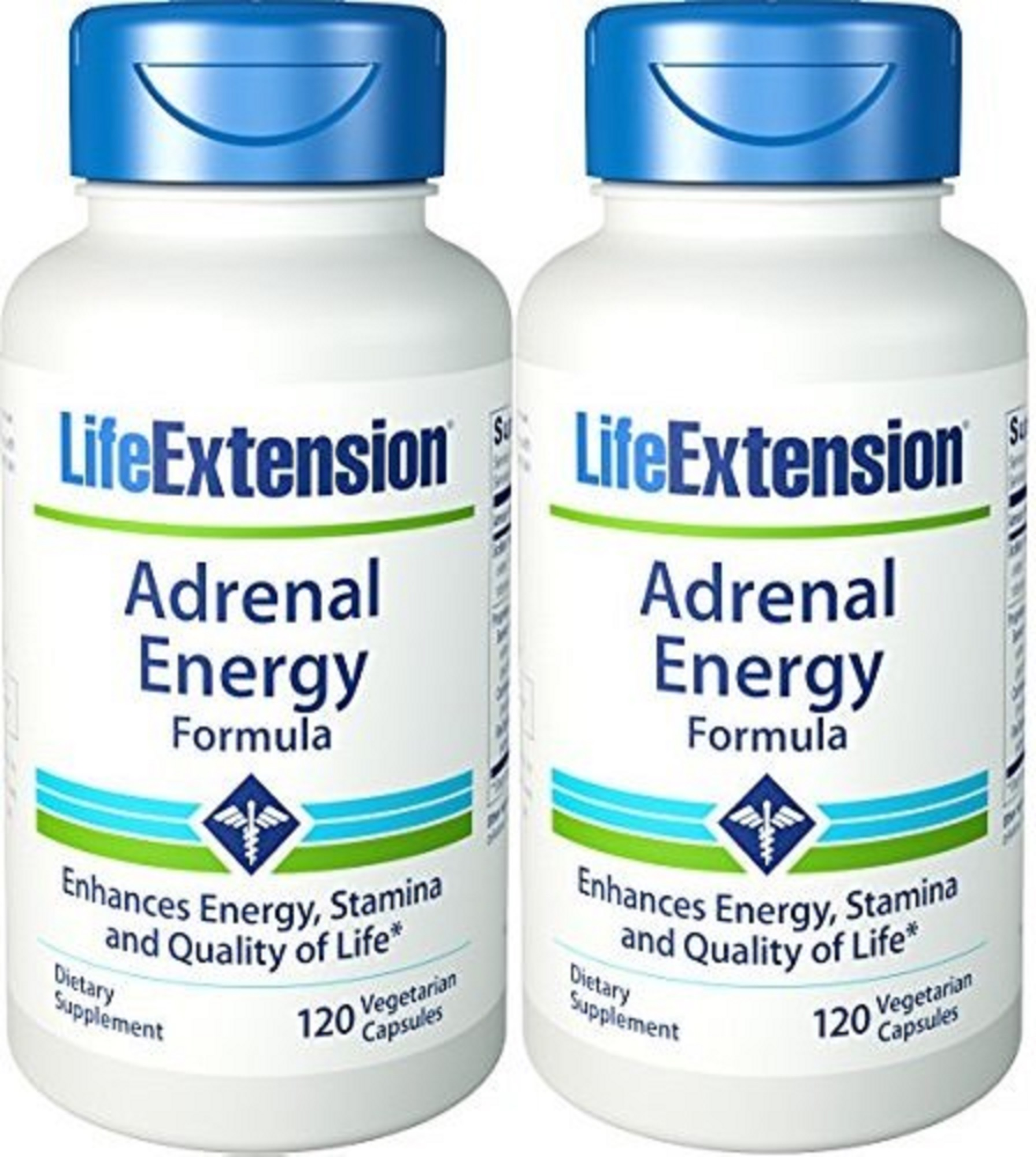 Life Extension Adrenal Energy Formula - 120 VCaps (Pack of 2)