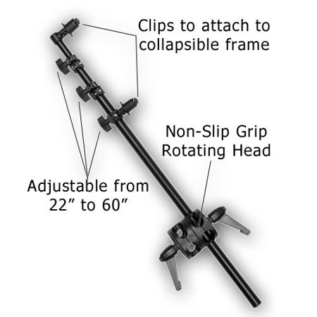 Fotodiox Pro Telescoping Reflector Holding Arm  Holds 22 To 60In Reflector Disc