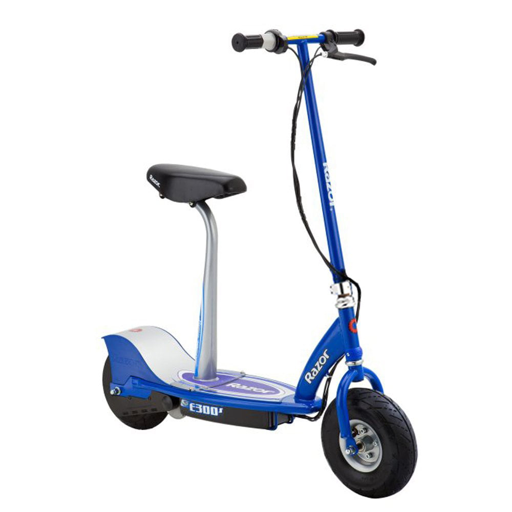 Razor E300S Rechargeable Cushioned Seat Electric Motorized Scooter, Blue by Razor