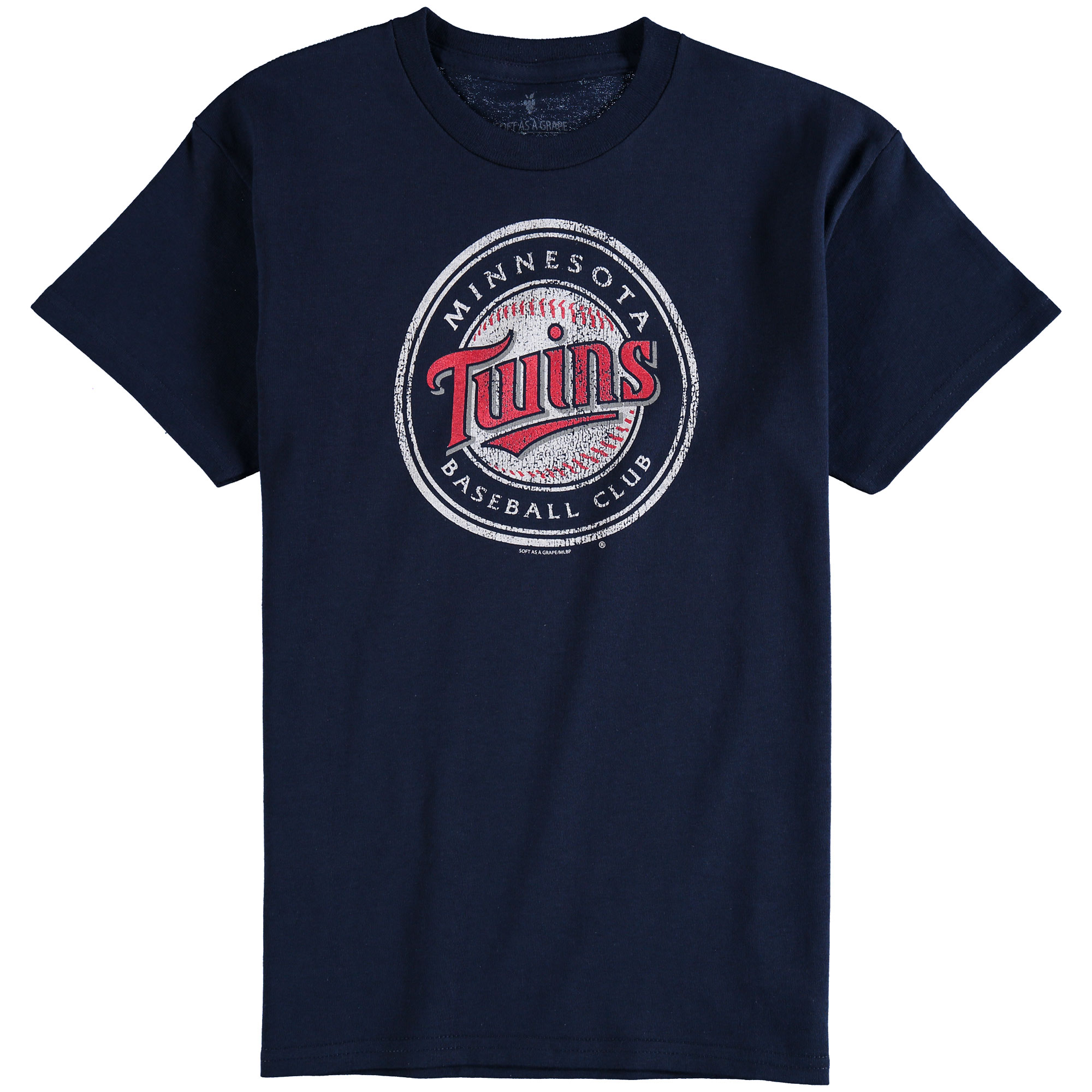 Minnesota Twins Youth Distressed Logo T-Shirt - Navy Blue
