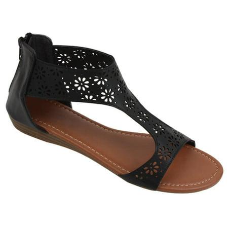 a64aeb6cb1bb1 SBG - Womens Gladiator Sandals Thong Flops T Strap Flip Flops Flats ...