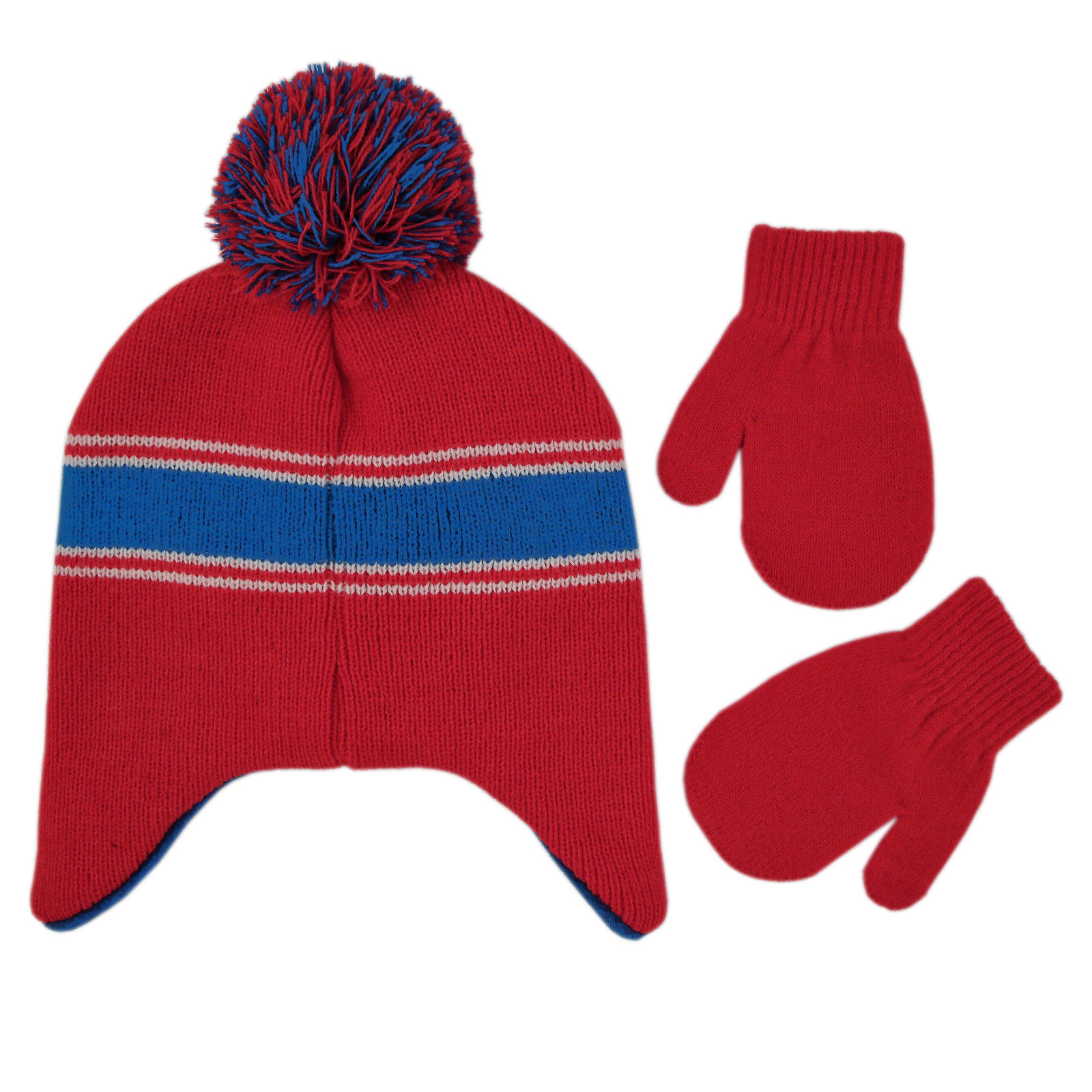 Age 2-4 Disney Toddler Boys Mickey Mouse Hat and Mittens Cold Weather Set
