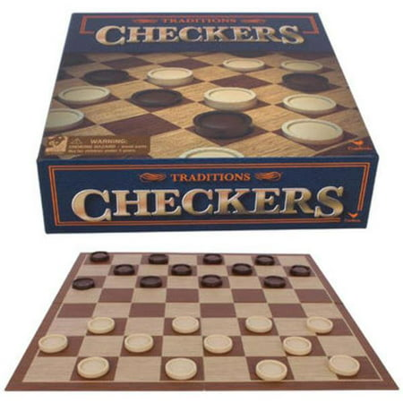 Classic Tabletop Games Traditions Checkers Game
