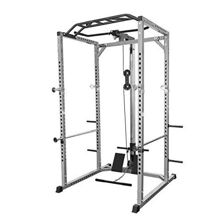 Valor Fitness BD-33 Heavy Duty Power Cage w/ Multi-Grip Chin-Up Bar and Lat Pull
