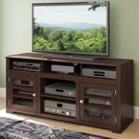 """CorLiving West Lake 60"""" Fireplace TV Stand in Dark Espresso"""