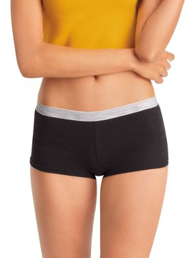 Hanes Women's Cotton Boy Brief, 6-Pack