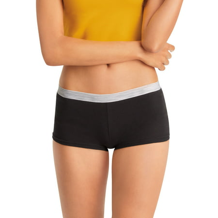 Hanes Women's Cotton Sporty 6pk Boy Shorts - Colors May Vary 5