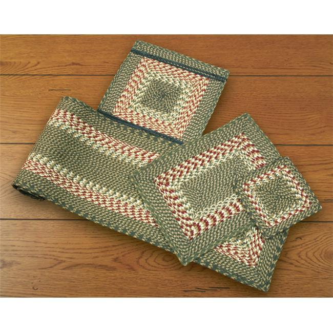 Earth Rugs 50-009 Green-Burgundy Rectangle Placemat