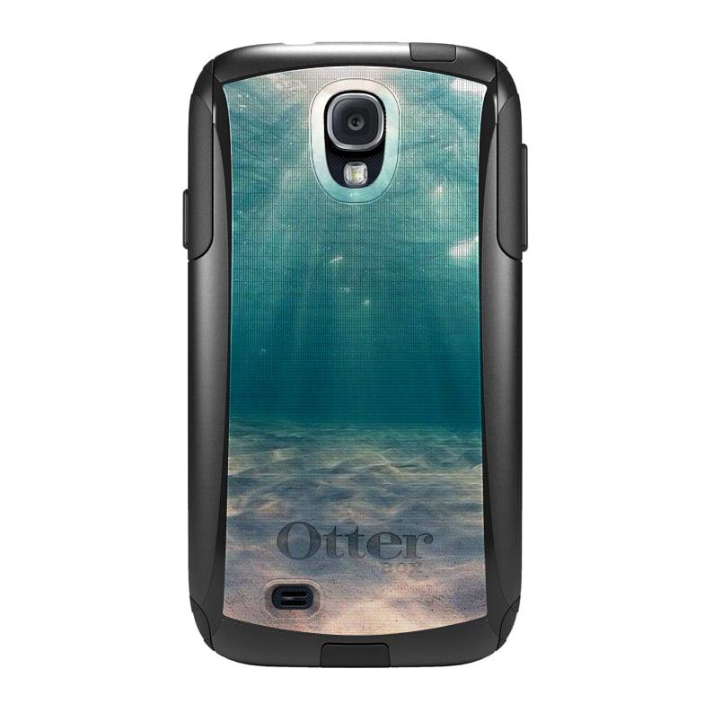 DistinctInk™ Custom Black OtterBox Commuter Series Case for Samsung Galaxy S4 - Underwater Sun Sand