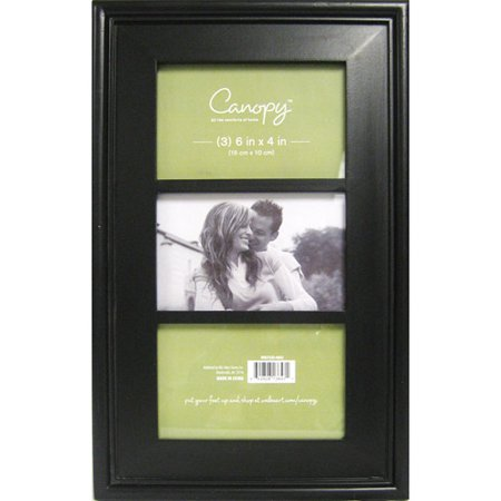 better homes and gardens 3 opening 4x6 beveled picture frame black
