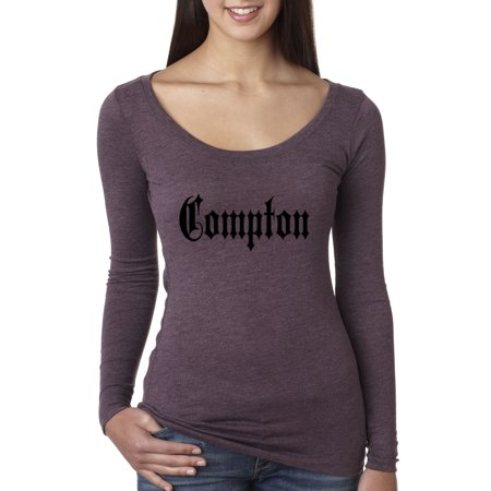 New Way 441 - Women's Long Sleeve T-Shirt Compton Old English Nwa Straight Outta - Nwa Halloween
