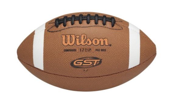Wilson GST Composite Leather Football, Pee Wee Size by Wilson