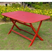 International Caravan Chelsea Acacia Painted Folding Patio Dining Table