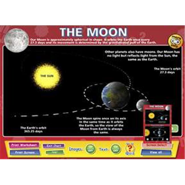 Daydream Education DD-SC-5-48 The Moon Interactive Software , Single User