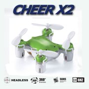 Cheerwing CHEER X2 Pocket Drone 2.4Ghz 4CH 6-Axis Gyro Mini Nano RC Quadcopter Drone UFO Headless Mode 3D Full Flight