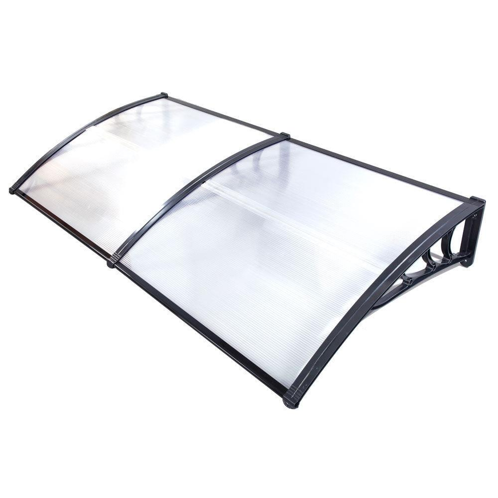 """Ktaxon 40""""x 80""""Awning Outdoor Polycarbonate Front Door Window Patio Cover Canopy"""