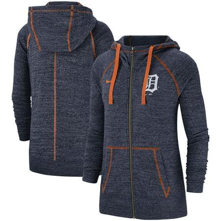 Detroit Tigers Nike Women's Gym Vintage Team Full-Zip Hoodie - Navy