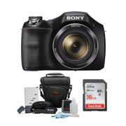 Sony  DSC-H300 Digital Camera with 16GB SD Card and Focus Holster Bag Bundle