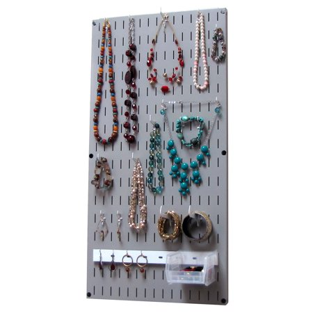 Wall Jewelry Holder - Jewelry Organizer Wall Hanging Jewelry Holder Necklace Rack - Gray Wall Mounted Jewelry Organizer System