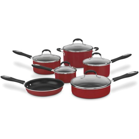 Cuisinart 11pc Nonstick Cookware Set Red