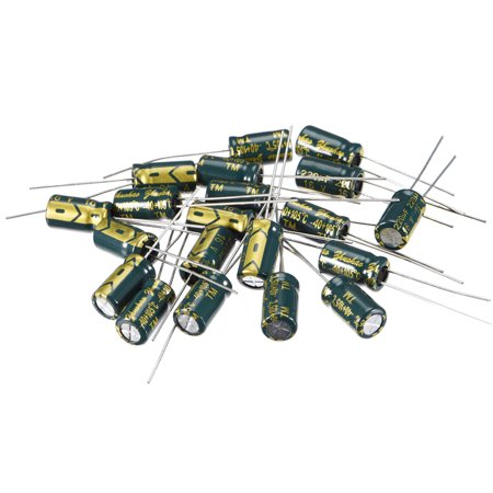 Aluminum Radial Electrolytic Capacitor Low ESR Green with 220uF 16V 105 Celsius Life 3000H 6.3 x 11 mm High Ripple Curre - image 4 of 4