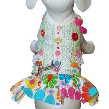 Darlin Daisy (Darlin' Daisy Dog Harness Dress by Cha-Cha Couture - Green)