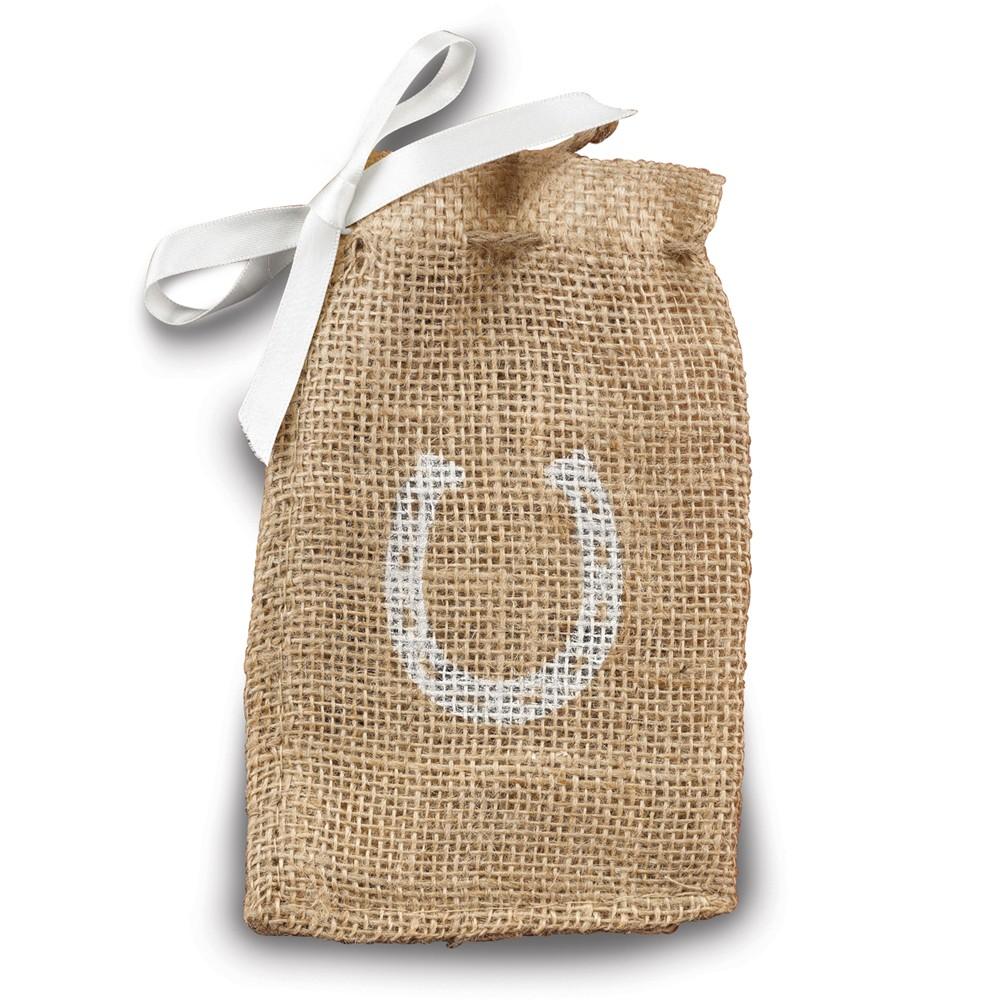 Pkg/25 Horseshoe Burlap Favor Bags
