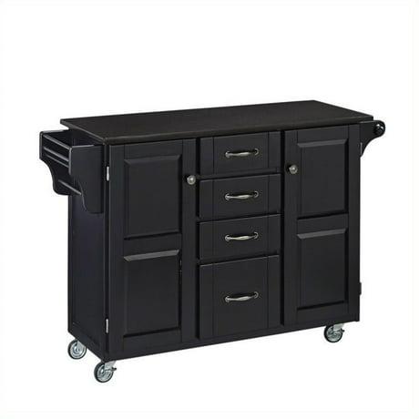 home styles granite top kitchen cart in black. Black Bedroom Furniture Sets. Home Design Ideas