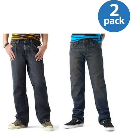 Signature by Levi Strauss & Co. Boys Husky Jeans - Your Choice 2 Pack