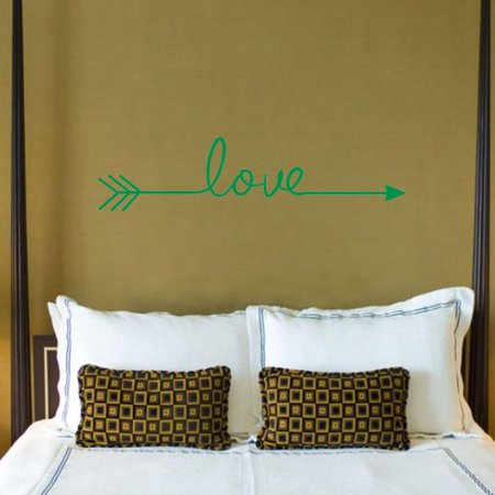 Fun Faces Blue Wall - Love Arrow Decal Living Room Bedroom Vinyl Carving Wall Decal Sticker