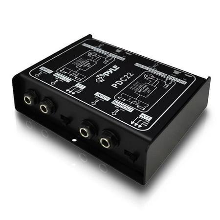 Premium Direct Injection Audio Box - Passive DI Unit Hum Eliminator w/ Input ...