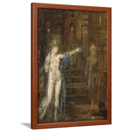 """Salomé dansant dite Salomé tatouée"""""""" Framed Print Wall Art By Gustave Moreau"""