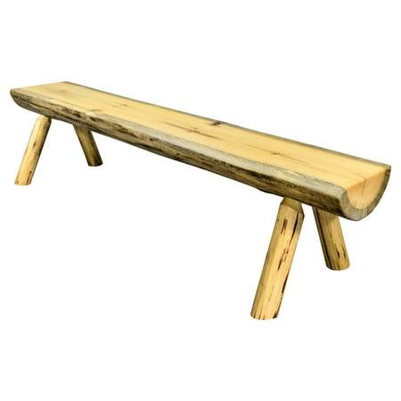 Montana Woodworks Montana Indoor / Outdoor Backless Armless Half Log Bench ()