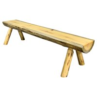 Montana Woodworks Montana Indoor / Outdoor Backless Armless Half Log Bench