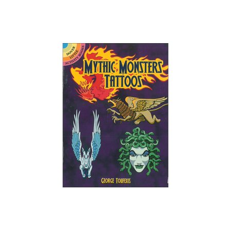 Dover Pub Little Mythic Monsters Tattoos Bk (Monster Tattoo)