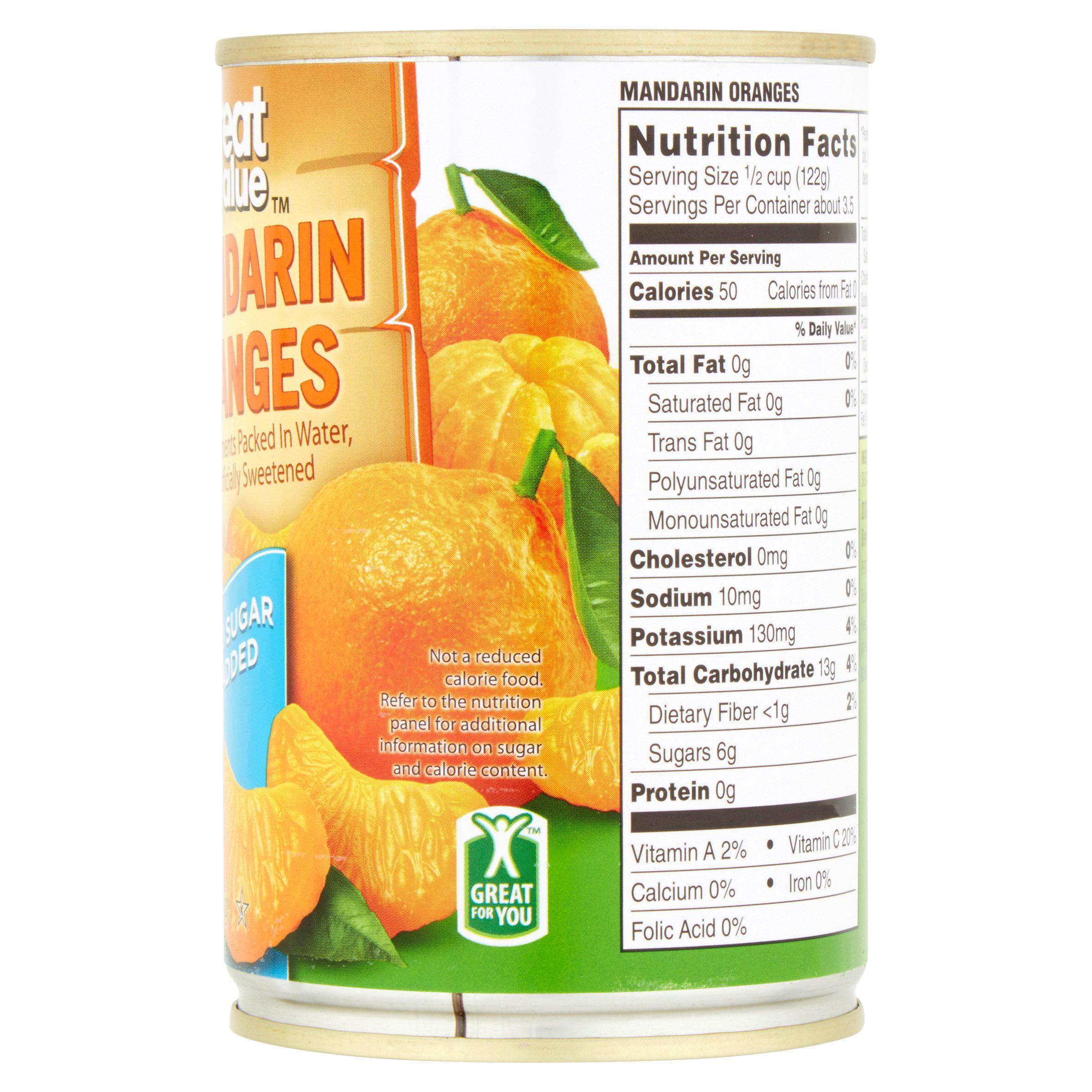 Great Value Mandarin Oranges In Water No Sugar Added 15 Oz Com
