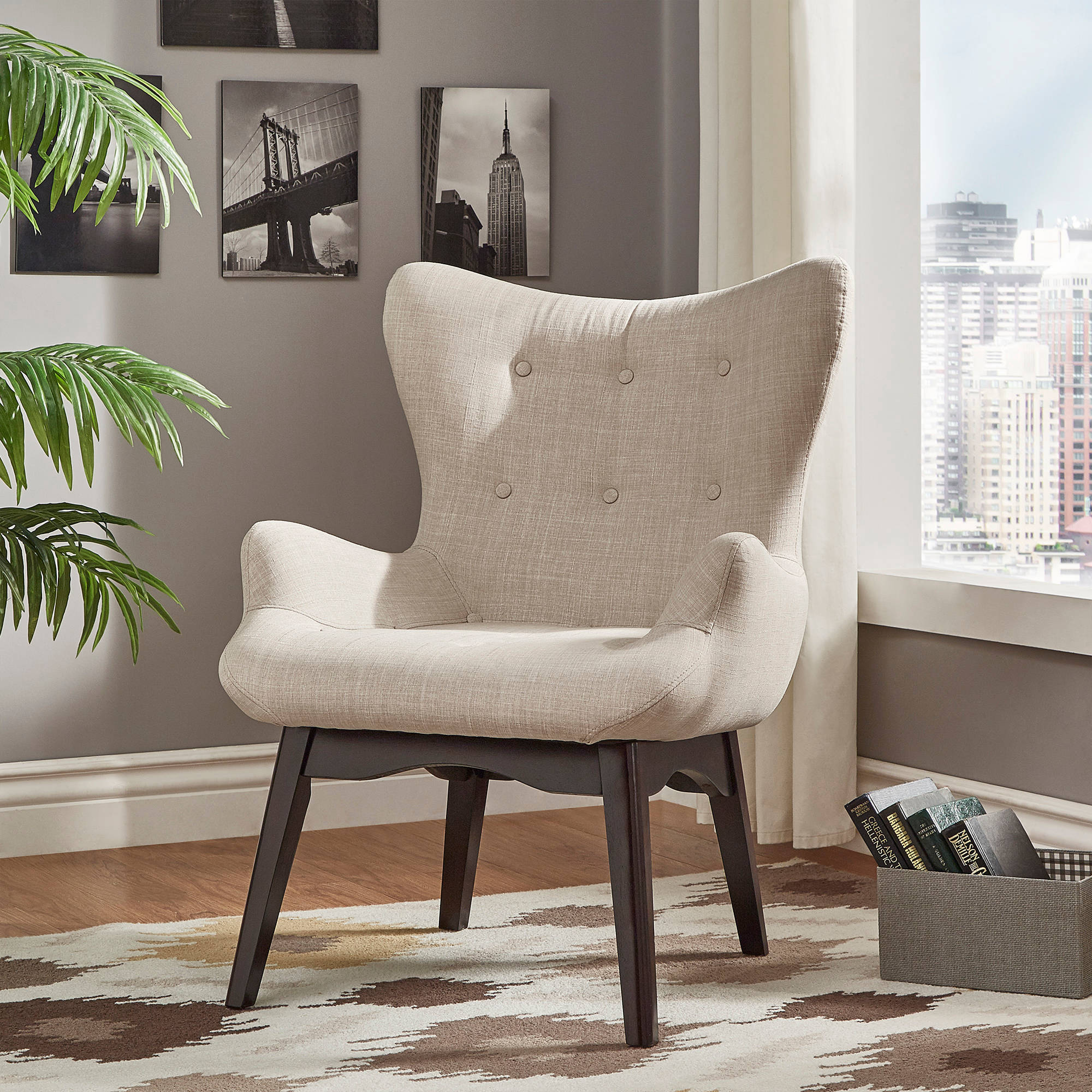Chelsea Lane Adelio Button Tufted Accent Chair, Multiple Colors