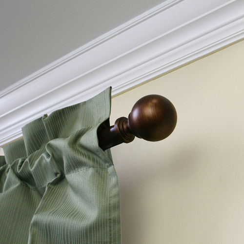 "Mainstays 1"" Diameter Decorative Curtain Rod with Ball Finial by"
