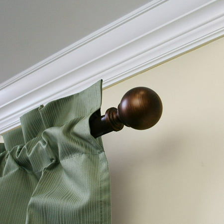 Mainstays 1   Diameter Decorative Curtain Rod With Ball Finial  30   84   Adjustable Length