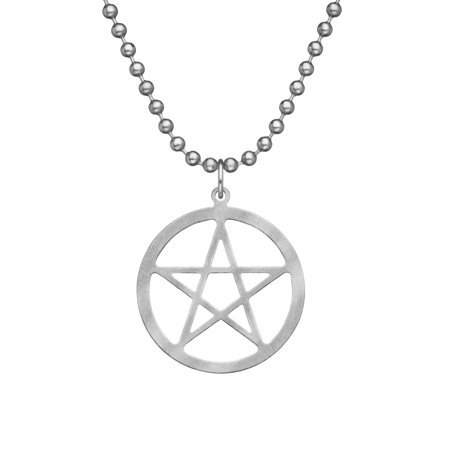 Genuine U.S. Military Issue PENTACLE With Beaded Chain - 24