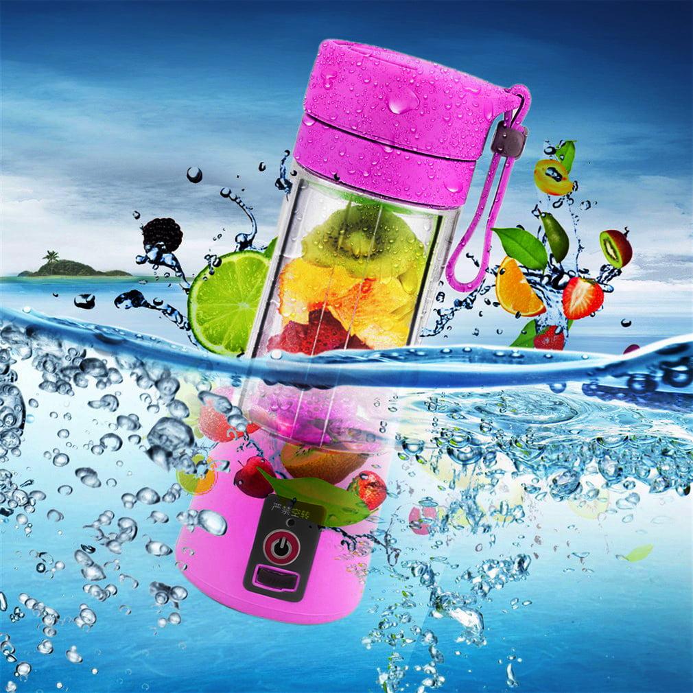 Portable 380ml USB Electric Fruit Juicer Handheld Smoothie Maker Blender Rechargeable Mini Portable Juice Cup Water Bottle