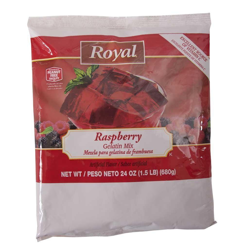 12 PACKS : Royal Raspberry Gelatin, 24 Ounce