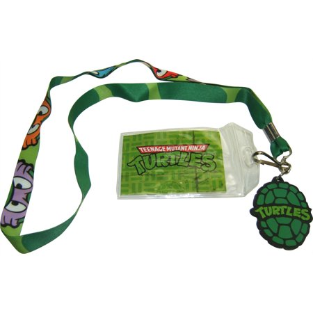1 X TMNT Ninja Turtle Lanyard Keychain Holder with Bonus Charm and ID Holder