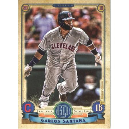 2019 Topps Gypsy Queen 73 Carlos Santana Cleveland Indians Baseball Card