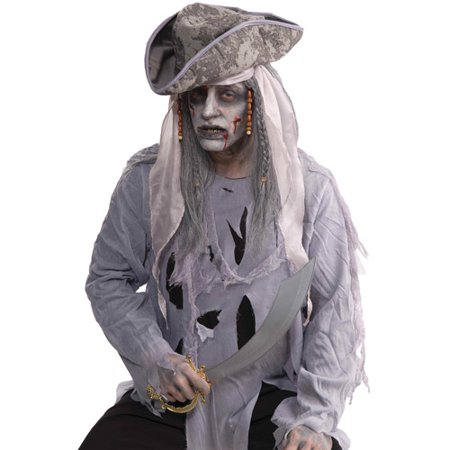 Zombie Pirate Wig Adult Halloween Accessory