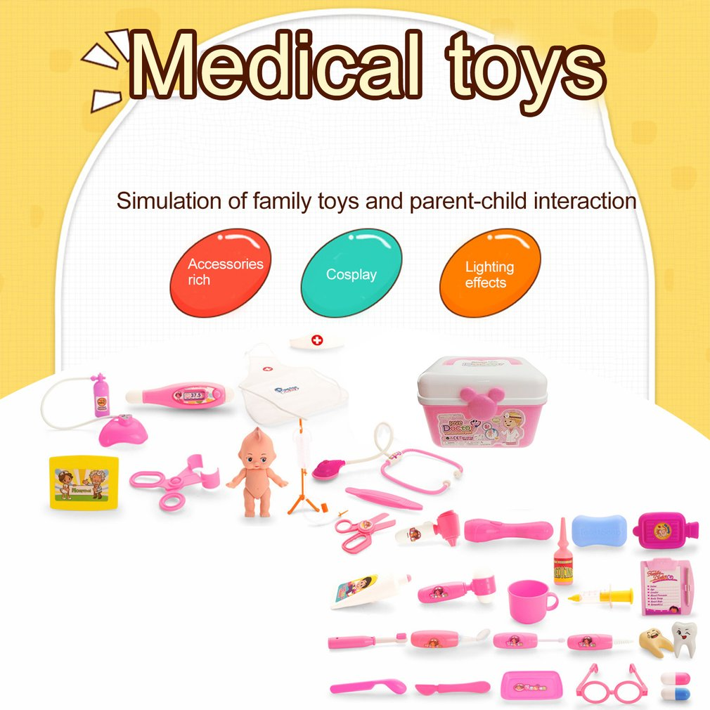 Children Role Play Medical Kit Doctor Play Game Set For Child Baby  Educational Box Pretend Play Gift Simulation Hospital