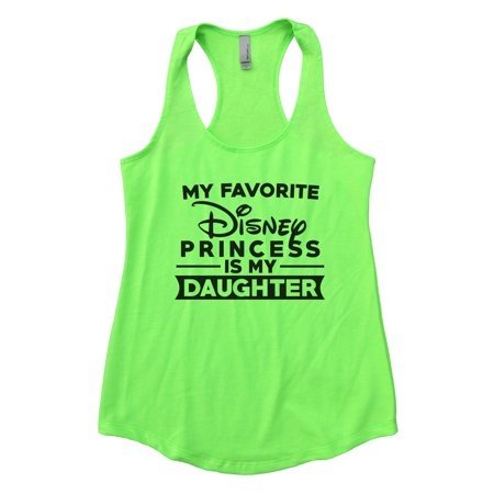 "Women's Cute Flowy Tank Top ""My Favorite Disney Princess Is My Daughter"" NGreen, Large ()"