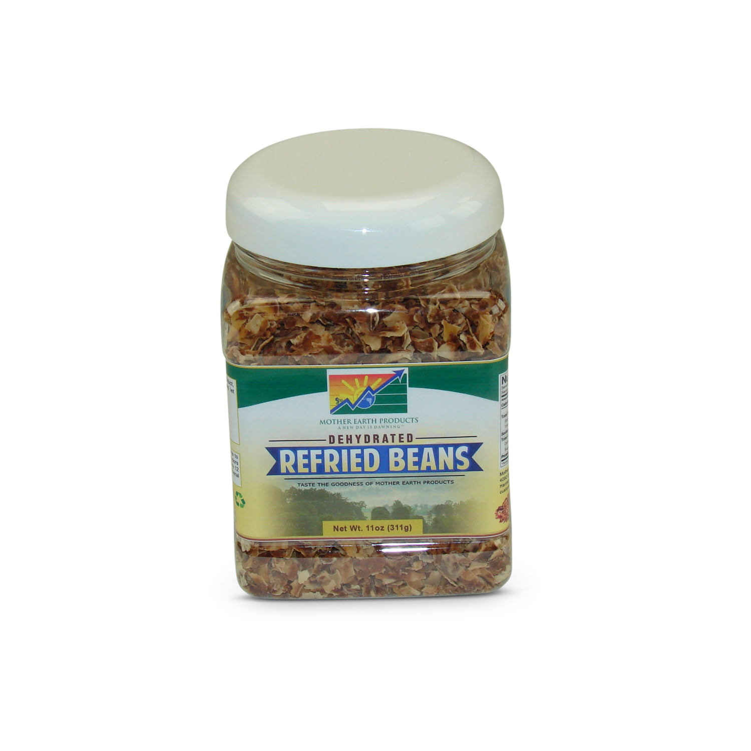 Mother Earth Products Dehydrated Refried Beans Mix, jar by Mother Earth Products